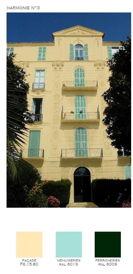 Grand Hôtel Cannes étude couleur Sikkens Akzonobel